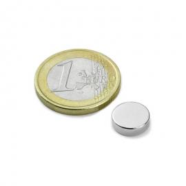 Neodymový magnet válec/kotouč 10x2.5mm, síla 1,3kg