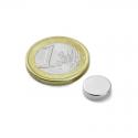 Neodymový magnet kotouč 10x2.5mm, síla 1,3kg