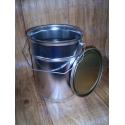 Plechový kbelík / vědro 5l s víkem