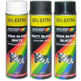 Motip Rally černá lesklá 04005 500ml