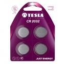 TESLA CR 2032 Lithium (CR2032, knoflíková baterie) 4ks