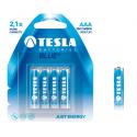 TESLA BLUE+ Zinc Carbon baterie AAA (LR03, mikrotužková baterie) 4ks