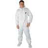 bílý jednorázový ochranný overal z materiálu Tyvek®(netkaný polyetylen)
