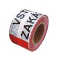 Páska výstražná červeno bílá ZÁKAZ VSTUPU 80mm x 250m