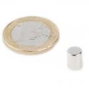 Neodymový magnet válec 6x8mm, síla 1,3kg