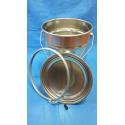 Plechový kbelík s drátěným držadlem + víko, spona, pojistka 5 L, UN