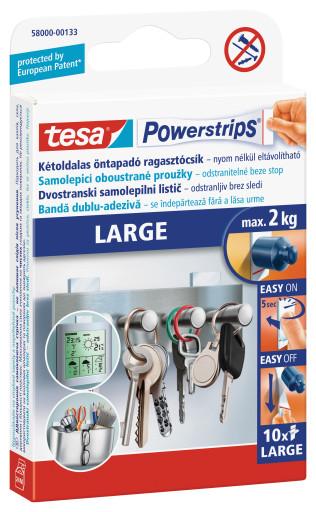 tesa Powerstrips® Velké lepicí proužky 58000 10ks