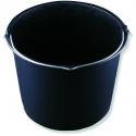 Stavební vědro černé plastové 12 L