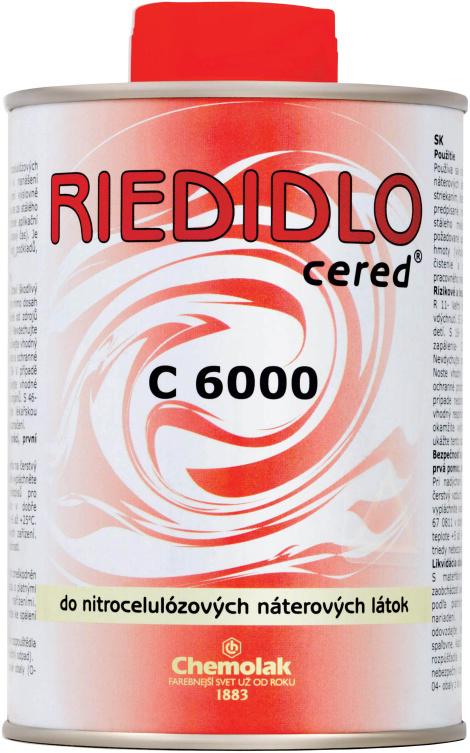 Nitroředidlo C 6000 CERED (acetonové, aceton 150,0 kg
