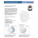 Respirátor FFP2 (dle normy EN149)/KN95 pětivrstvý bez výdechového ventilu