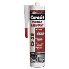 Tepelně odolný tmel Gasket Sealant, CS 28, červený, 300 ml, Ceresit