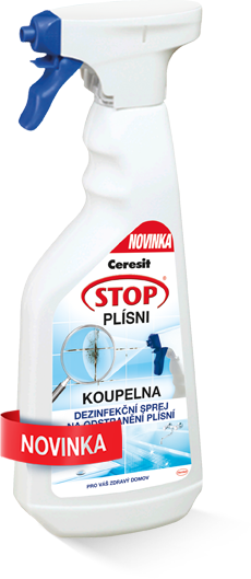 Dezinfekční sprej a odstraňovač plísní - KOUPELNA, Ceresit, 500 ml