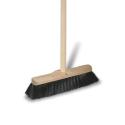 Smeták dřevěný s holí, 120 cm, černý vlas