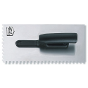 Hladítko ozubené 10x10 mm, nerez, 27x13 cm