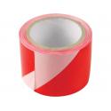 Páska výstražná červeno bílá 80mm x 250m